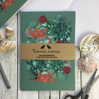 Rockpool Notebook - Recycled A5 Notebook - Seaside Notebook