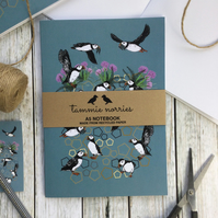 Puffin Notebook - Recycled A5 Puffin Notebook