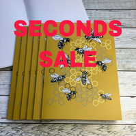 Set of Bee Notebooks Seconds Sale 3, 6, 12 or 20 - A5 Recycled Notebook-