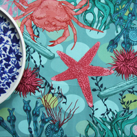 Rockpool Tea Towel - Cotton Seaside Tea Towel
