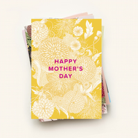Botanical mother's day greetings card, A6 Card size