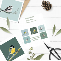 British Garden Bird Set of 5 cards