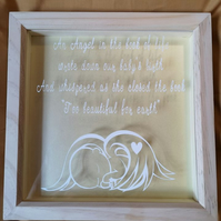 "Beautiful ""An Angel in the Book of Life"" Memory Box Frame"