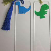 Lovely Dinosaur Acrylic & Vinyl Bookmarks Approx 14 x 4cm