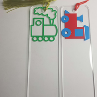Lovely Train Acrylic & Vinyl Bookmarks Approx 14 x 4cm