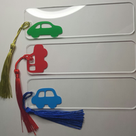 Lovely Car Acrylic & Vinyl Bookmarks Approx 14 x 4cm
