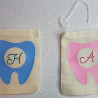 Magical Personalised Initial Tooth Fairy Pouch with Message for the Tooth Fairy