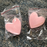 pink love heart soap