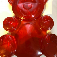 large teddy bear soap red