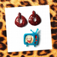 The Wanda set - Pin up rockabilly Retro TV glitter brooch and matching earrings