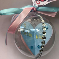 Baby Shower or Gender Reveal or new baby Bauble