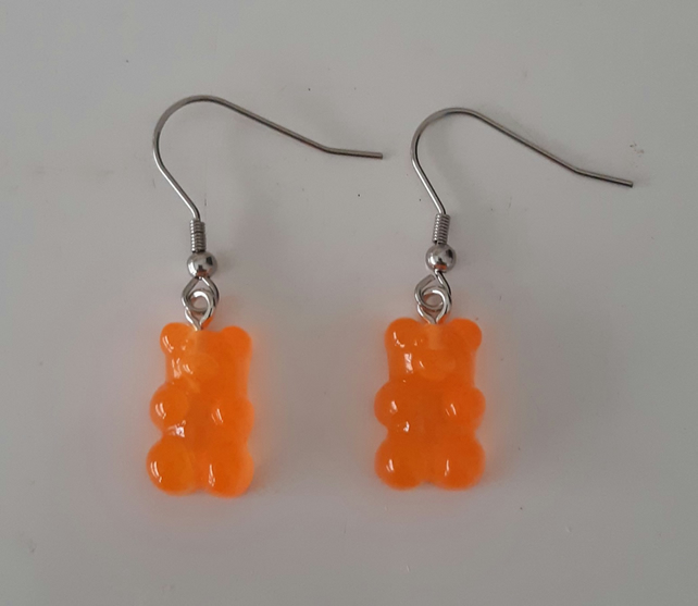 Gummy Bear Earrings Resin Drop Bear Dangle Drop