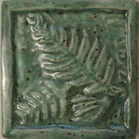 Fossil Ferns Ceramic Relief Tile