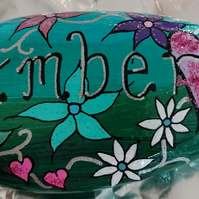 Name stone, personalised gift, friend, mum, nanna, sister, grandma, wife