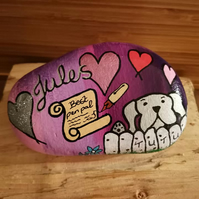 Novelty gift. personalised gift, large hand painted pebble, fun, unique gift
