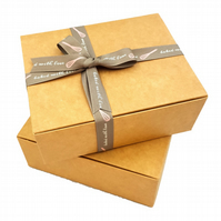 Self-assembly Gift Boxes 15cm x 12cm x 5.5cm Oblong shaped Small Gifts ref:C