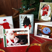 Hand crafted Christmas cards from Santa's personal collection.Cards & envelope