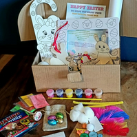 Personalised children's Easter activity treat craft boxes ideal for rainy day
