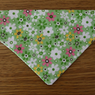Floral Print Green Dog Bandana