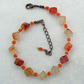 Carnelian Blocks with Orange and Pearly Cream Beads Semi-Precious