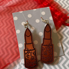 Lipstick Earrings