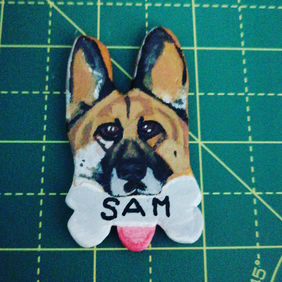 Customised pet and animal pins