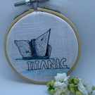 Titanic Belfast, hand painted, embroidery hoop