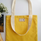Earth friendly & reusable Lined Turmeric Tote (with pocket)
