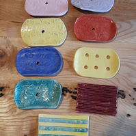 Handemade soap dishes