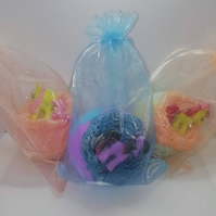 Handmade, scented, Little Pony bath bomb! Choice of pony toy and gift box or bag