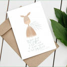 Palm Sunday donkey greeting card