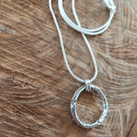 Bespoke Layered Solid Silver Circle of Life Pendant - Necklace