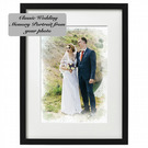 Classic watercolour of your Wedding Day. Wedding memory. Anniversary Gift.