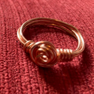 Copper ring with rose shaped centre