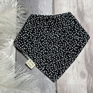 Bandana style Baby Bib - Black & white dot - Organic Bamboo Terry Cloth & Cotton