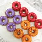 Mini Donut Wax Melts - Letterbox Friendly  Box Of 12  Mixed Fruit Scents
