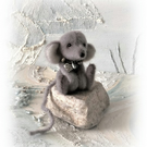 8cm Faux Fur Little Baby Mouse OOAK jointed Artist  Bear one off Design