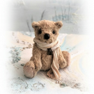 "6"" Faux Fur Teddy Bear OOAK Little jointed Artist Bear Boulter Bears"