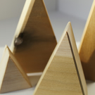 Wooden mountain ornaments