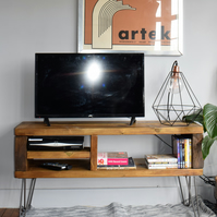 Industrial hairpin legs TV sideboard unit FREE UK DELIVERY