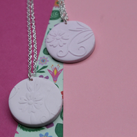 Embossed Floral Necklace