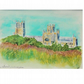 Ely Cathedral Original Watercolour Painting,Landscape and Architecture Artwork,