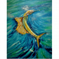 Sailfish Oil PaintingTropical Sea Life Fine Art Swordfish Underwater Marin Life