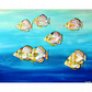 Fish Oil Painting Batfish Underwater Ocean Marine Life Canvas Tropical Sea Life