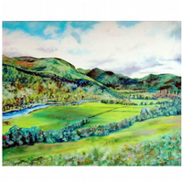 Mountains in Perthshire Scotland Scottish Highlands Landscape Oil Painting