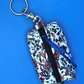 Keyring bag for face mask, earphones, dog treats, coin purse, etc.
