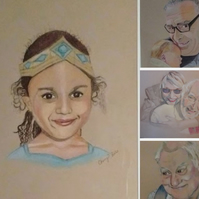 Hand painted People Portraits available in single or doubles.