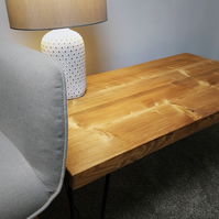 Solid Wooden Coffee Table with Hairpin Legs