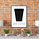 No Nonsense Coffee Print