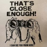 """Letterpress poster """"That's Close Enough"""" A3 recycled"""